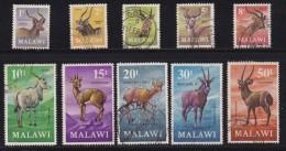 MALAWI, 1971, Used  Stamp(s), Definitives Antilopes, 148=160,  #4665 (10 Values) - Malawi (1964-...)