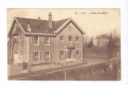 CPA Luzy - L'Hotel De La Gare - Circulée 1932 - France