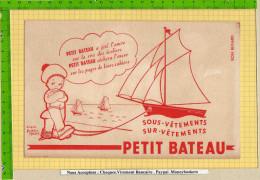 BUVARD : Les Sous Vetements Petit Bateau Enfant  Signe D´Apres Beatrice Mallet - Vestiario & Tessile