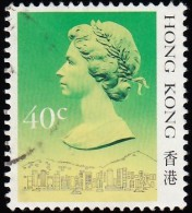 HONG KONG - Scott #491a Queen Elizabeth II / Used Stamp - Used Stamps