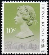 HONG KONG - Scott #490c Queen Elizabeth II '1990' / Mint NG Stamp - Hong Kong (...-1997)