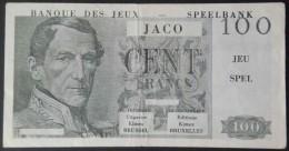 Belgique Belgium Bruxelles Brussel éditions Kimex - Banque Des Jeux - Speelbank JACO 100 Francs Gris Uniface - [ 8] Fakes & Specimens