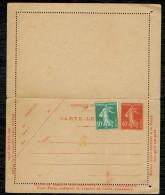 Entier Postal (007 ) 40 C Rouge + 10  Vert . Carte Lettre Neuf - Entiers Postaux