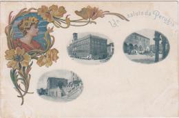 AK - LITHO - Patriotika - Un Saluto Da PERUGIA 1900 - Perugia