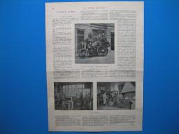 (1900) Les POMPIERS De PARIS Et Le FOURGON ÉLECTRIQUE Réalisé Dans Leurs Ateliers - Old Paper