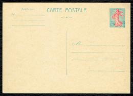Entier Postal (008 ) 20 C Semeuse De Piel ; Turquoise Et Rose. Carte Postale Neuve - Entiers Postaux