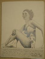 Dessin Au Crayon-Illustrateur -Mary Viseaux Actrice (3) - Dessins
