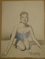 Dessin Au Crayon-Illustrateur -Margaret Von Gerkan, Connue Sous Le Nom De Scène Kathleen Hughes Est Une Actrice Amér (3) - Drawings
