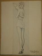 Dessin Au Crayon-Illustrateur -Barbara Ruick Est Une Actrice Américaine (3) - Dessins