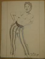 Dessin Au Crayon-Illustrateur -May Wynn Est Une Actrice Américaine (3) - Dessins