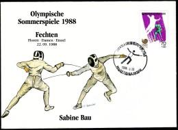 Korea Seoul 1988 Olympic Games Fencing Sabine Bau Floret - Esgrima
