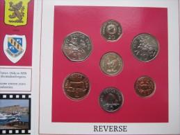 Guernsey 1986 7 Coin Set BUNC Sealed Royal Mint Edition Penny - Pound - Guernsey