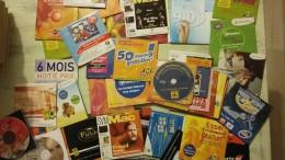 Lot De Plus De 50 CD Des Début D'internet........ - Autres