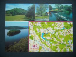 Czechoslovakia (Czech R.): SEC (dam, Talsperre, Barrage) By Chrudim - Multiview, Map Mappe Carte - Posted 1991 - Landkaarten