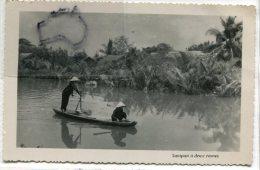 - Indochine - Viet-Nam - Sampan A Deux Rames, Peu Courante, Photo NAM PHAT, Glacée, Coins Ok, TTBE, Scans. - Viêt-Nam
