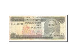 Barbados, 5 Dollars, 1975, KM:32a, Undated, TB - Barbades