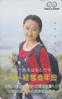 Télécarte Japon - FEMME - FACE TO FACE / 1 - GIRL Japan Phonecard - Frau Telefonkarte - 2206 - Japan