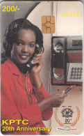 KENYA - Lady On Cardphone, KPTC First Chip Issue 200 KSHS(yellow Value), Chip GEM3.1, Exp.date 31/12/99, Used - Kenia