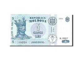 Moldova, 5 Lei, 1992-1994, KM:9a, 1994, NEUF - Moldova