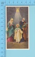 K-67(  La Sainte Trinité + Marie Et Joseph ) Image Pieuse Holy Card Santini 2 Scans - Images Religieuses