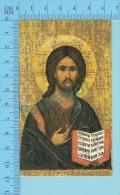 FB-Icone-12(  Icone De Jésus ) Image Pieuse Holy Card Santini 2 Scans - Images Religieuses