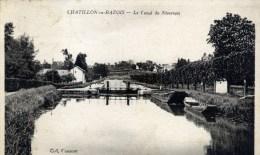 58 CHATILLON En BAZOIS Le Canal Du Nivernais  Batellerie,péniche - Chatillon En Bazois