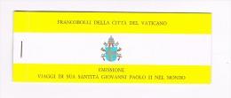 VATICANO -  UNIFIC. L1 - 1982 LIBRETTO CON COPERTINA GIALLA: I VIAGGI DI GIOVANNI PAOLO II - NUOVO (MINT)** - Libretti