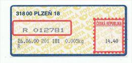 Czech Rep. / APOST (2000) 318 00 PLZEN 18 (A03344) - Czech Republic