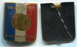 831 ANCIEN INSIGNE WW2 LIBERATION 18 NOV 1944 VALENTIGNEY 25 DOUBS FRANCHE COMTE - Insigne & Ordelinten