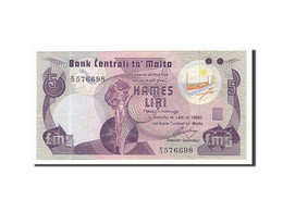 Malte, 5 Liri, 1979, KM:35b, Non Daté, TTB - Malte