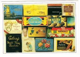 MILK CHOCOLATE, MARZIPAN, ASSORTED CHOCOLATES, TRUFFLE CREAM - ´Carton Through The Ages´ - England - Reclame