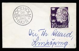 A3762) Schweden Sweden Kleiner Damenbrief Vom Blindas Dag Stockholm 6.10.51 - Lettres & Documents