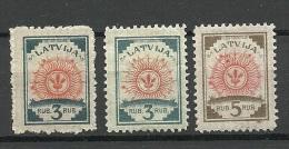 LATVIA Lettland 1919/21 Michel 30 - 31 * - Latvia