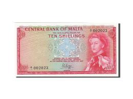 Malte, 10 Shillings, 1968-1969, KM:28a, 1968, NEUF - Malte
