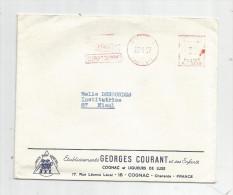 G-I-E , Enveloppe Commerciale , Ets Georges COURANT Et Ses Enfants , Charente , COGNAC , Cognac Et Liqueurs De Luxe - Factures & Documents Commerciaux
