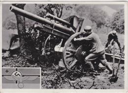 Ansichtskarte Aus Dem 2. Weltkrieg -Leichte Feldhaubitze 10,5 Cm LeFH 18- - Ausrüstung