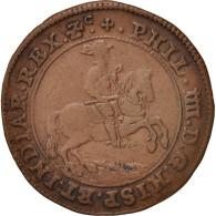 Pays-Bas, Token, Spanish Netherlands, Philippe IV, Bruxelles, 1651, TTB, Cuivre - Pays-Bas