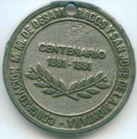 CONGREGACION M.M. DE DESAMPARADOS Y SAN JOSE DELA MONTANA 100 YEARS JUBILEE MEDAL DIAMETER 37mm - Religion & Esotericism