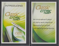 India  Classic Cigarettes  Insert Card In The Packet   # 89708  Inde  Indien - Empty Cigarettes Boxes