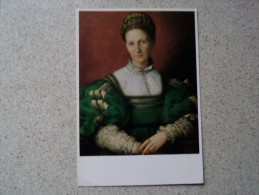 51021 PEOPLE:  Agnolo Bronzino - Lady In Green. THE ROYAL COLLECTION. - Famous People
