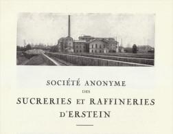 1924 - Iconographie Documentaire - Erstein (Bas-Rhin) - SA Des Sucrerie Et Raffineries D'Erstein -  FRANCO DE PORT - Sin Clasificación