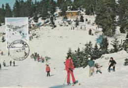 Carte-Maximum GRECE N°Yvert 1365 / Parnassos, Sports D'hiver - Maximum Cards & Covers