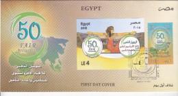 Fdc EGYPT 2015 F.A.I.R 50TH ANNIVERSARY FDC */* - Egypt