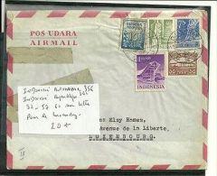 INDONESIE AUTONOME N° 356 ET 361 REPUBLIQUE N° 32/57/60 VIA LUXEMBOURG - Briefmarken
