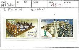 MOLDAVIE  2 VALEURS ECHECS ** - Autres - Europe