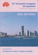 Esperanto 2nd Bulletin Congress 2007 Yokohama - Dua Bulteno Universala Kongresa 2007 Jokohamo - Oude Boeken