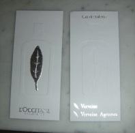Carte Parfumée Eau De Toilette Verveine De L'Occitane - Modern (from 1961)