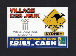 Autocollant.  Foire Internationale De CAEN 2000.  Thème : Les J.O. De Sydney - Stickers