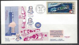 USA Beleg Mit Mi-Nr. 1180 Amerikanisch-sowjetisches Raumfahrt-Unternehmen Apollo-Sojus - Cartas