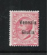 ITALIA - VENEZIA GIULIA - 1918: Valore Nuovo Stl Da 10 C. Soprastampato Venezia Giulia - In Ottime Condizioni. - 8. WW I Occupation